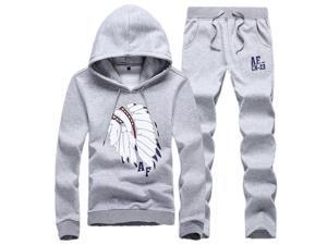 Shefetch Men's Autumn Mens Activewear 8 Sizes Lycra 5 Colors Gray M