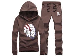 Shefetch Men's Autumn Mens Activewear 8 Sizes Lycra 5 Colors Coffee L