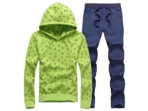 Shefetch Men's Luxury2015 Autumn Mens Activewear 4 Colors Green 3XL