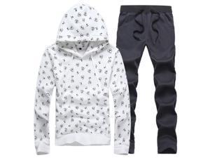 Shefetch Men's Luxury2015 Autumn Mens Activewear 4 Colors White L