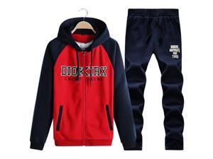 Shefetch Men's 2015 Autumn Mens Activewear 6 Sizes 4 Colors Red L
