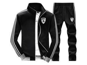 Shefetch Men'S2015 Mens Activewear 6 Sizes Black,Deep Blue,Light Gray Black 4XL