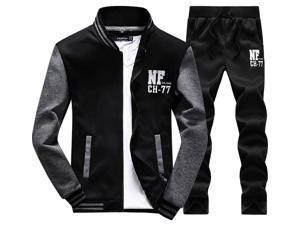 Shefetch Men's 2015 Autumn Mens Activewear Lycra Black 4XL