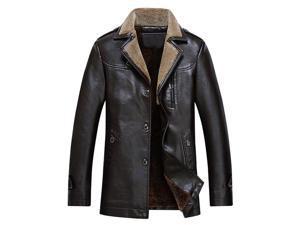 Shefetch Men's Vintage Fashion Autumn Lycra Mens Outerwear 4 Sizes Coffee 3XL
