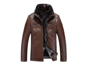 Shefetch Men's Stylish Autumn Lycra Mens Outerwear 5 Sizes 2 Colors Coffee 48