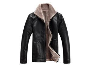 Shefetch Men's Autumn Fashion Relaxed Fit Lycra Mens Outerwear  Black 6XL