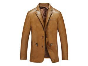 Shefetch Men's Regular Fit Autumn 2015 5 Sizes 3 Colors Lycra Mens Outerwear Yellow 2XL