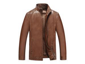 Shefetch Men's Autumn Fashion Stylish Lycra Mens Outerwear 5 Sizes 3 Colors Yellow 3XL