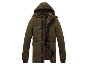 Shefetch Men's Casual 2015 Autumn Comfortable 5 Sizes 3 Colors Mens Outerwear Dark Beige 3XL/US M chest:40.9""