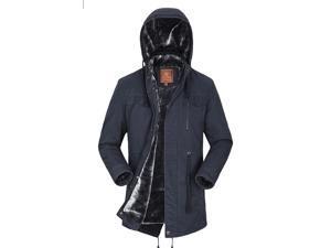 Shefetch Men's Autumn Stylish Trendy Design Lycra Mens Outerwear 5 Colors Blue 2XL