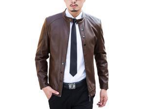 Shefetch Men's ClassicAutumn Lycra Mens Outerwear 2015 5 Sizes Reddish Coffee 3XL