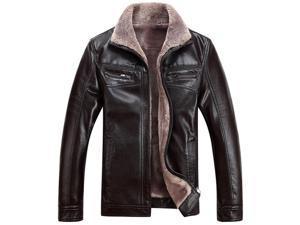 Shefetch Men's Autumn Lycra Mens Outerwear 2 Colors 6 Sizes  Brown 4XL