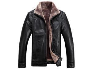 Shefetch Men's Fashion Casual Lycra 2015 Autumn Mens Outerwear Black 4XL