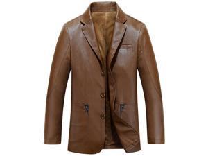 Shefetch Men's Warm Lycra Mens Outerwear Black,Brown 2XL,3XL,L,M,XL  Brown XL
