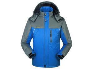 Shefetch Men's 2015 Autumn Insulated Lycra Mens Outerwear 6 Colors 10 Sizes Blue XL