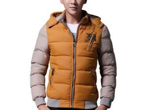 Shefetch Men's Fit Autumn Trendy 5 Colors 5 Sizes Lycra Mens Outerwear Yellow 3XL