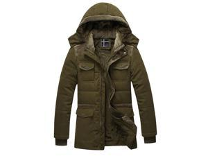 Shefetch Men's Autumn 2015 Stylish Casual Fashion 5 Colors Mens Outerwear Army Green L