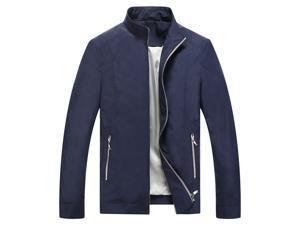 Shefetch Men's Fashion 2015 Autumn 5 Sizes 2 Colors Mens Outerwear Blue M