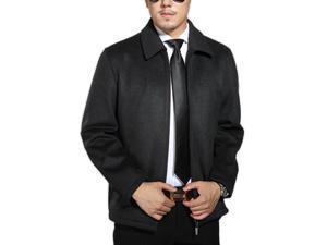 Shefetch Men's Slim Fit Autumn Stylish Lycra 2 Colors Mens Outerwear Grey XL