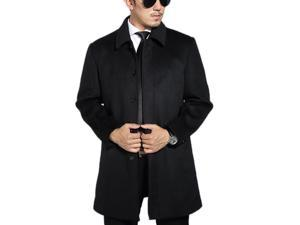 Shefetch Men's Fitted Autumn New 2 Colors 5 Sizes Lycra Mens Outerwear Blakc 2XL
