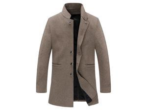 Shefetch Men's Fitted Autumn Trendy 1 Colors 5 Sizes Lycra Mens Outerwear Camel XL