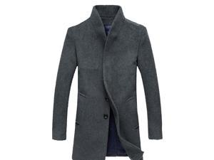 Shefetch Men's Casual 2015 Brand New Autumn 2 Colors 5 Sizes Mens Outerwear Gray L