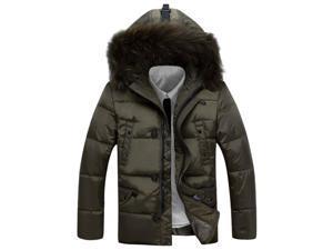 Shefetch Men's Fitted Autumn Warm 3 Colors 5 Sizes Lycra Mens Outerwear Khaki 3XL