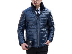 Shefetch Men's Fit Autumn Trendy 4 Colors 5 Sizes Lycra Mens Outerwear Dark Blue XL