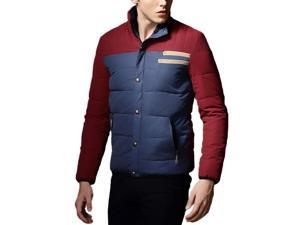 Shefetch Men's Autumn Lycra Fashion Casual Mens Outerwear 6 Sizes 4 Colors Red 3XL