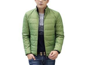Shefetch Men's Casual Autumn Warm Styish Lycra Mens Outerwear 6 Sizes 3 Colors Green M