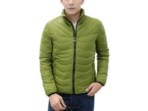 Shefetch Men's Vintage Stylish Autumn Fashion Chic Lycra Mens Outerwear Green 4XL