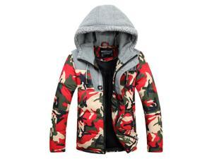 Shefetch Men's Autumn Fashion 3 Colors Casual 5 Sizes Mens Outerwear Red M