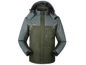 Shefetch Men's Fit Autumn Retro 6 Colors 10 Sizes Lycra Mens Outerwear Army Green 6XL