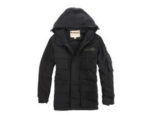 Shefetch Men's Retro Casual Autumn Fashion Stylish Lycra Mens Outerwear Black 2XL