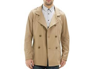 """Shefetch Men's Fitted Autumn Latest 3 Colors 5 Sizes Lycra Mens Outerwear Dark Khaki 48 /US XS chest:33.1"""""""