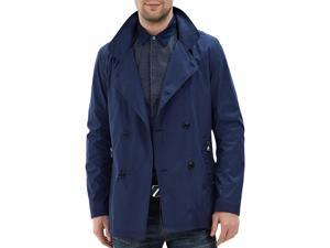 Shefetch Men's Fitted Autumn Latest 3 Colors 5 Sizes Lycra Mens Outerwear Dark Blue 48 /US XS chest:33.1""