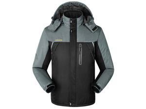 Shefetch Men's Fit Autumn Retro 6 Colors 10 Sizes Lycra Mens Outerwear Black XL