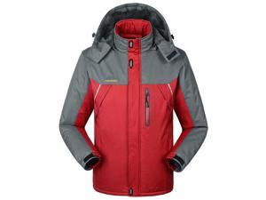 Shefetch Men's Fit Autumn Retro 6 Colors 10 Sizes Lycra Mens Outerwear Red L