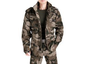 Shefetch Men's Autumn Lycra Fashion Casual Mens Outerwear 6 Sizes 2 Colors Camouflage S