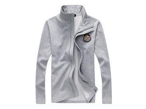 "Shefetch Men's Chic Fashion 2015 Autumn Lycra Mens Outerwear 3 Colors Light Gray Asian 2XL/US M (chest:37.8"")"