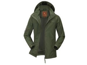 Shefetch Men's Chic Trendy 2015 Autumn Lycra Mens Outerwear 2 Colors Arny Green M