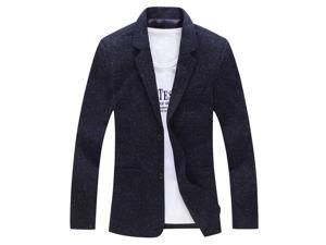 Shefetch Men's Casual 2015 Autumn Comfortable 7 Sizes 3 Colors Mens Outerwear Navy 5XL/US L chest:42.5""