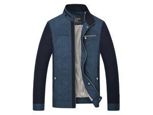 """Shefetch Men's Chic Fashion 2015 Autumn Lycra Mens Outerwear 2 Colors Blue Asian 3XL / US M (Chest:39.4"""")"""