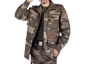 Shefetch Men's Fit Autumn Trendy 1 Colors 5 Sizes Lycra Mens Outerwear Camouflage L