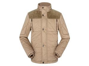 Shefetch Men's Fashion Autumn Thermal 3 Colors 5 Sizes Nylon Mens Outerwear Khaki M