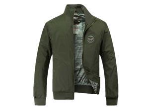 Shefetch Men's 2XL,3XL,L,M,XL Cotton 2 Colors Mens Outerwear Army Green XL