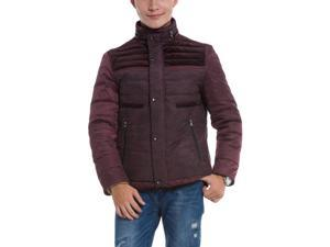 Shefetch Men's Trendy 2015 Autumn New Stylish Polyester Mens Outerwear Purple 4XL