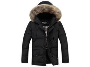 Shefetch Men's Stylish Designed Autumn Mens Outerwear 5 Sizes Black L