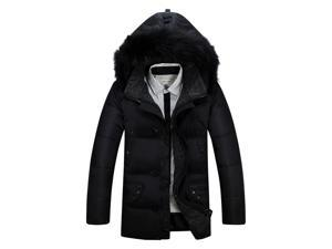 Shefetch Men's Slim Fit Autumn Stylish 3 Colors Mens Outerwear Black 2XL