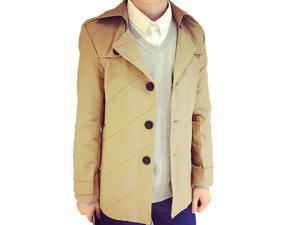 Shefetch Men's Fashion 2015 Latest Trends Mens Outerwear 8 Sizes Khaki 3XL